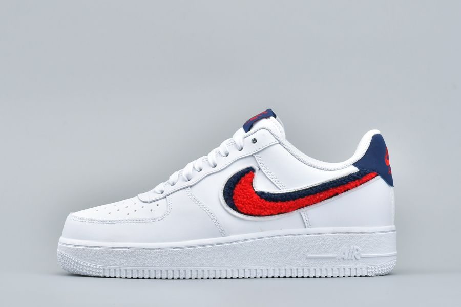 Buy Nike Air Force 1 Low 3D Chenille Swoosh White Red Blue 823511-106 Online