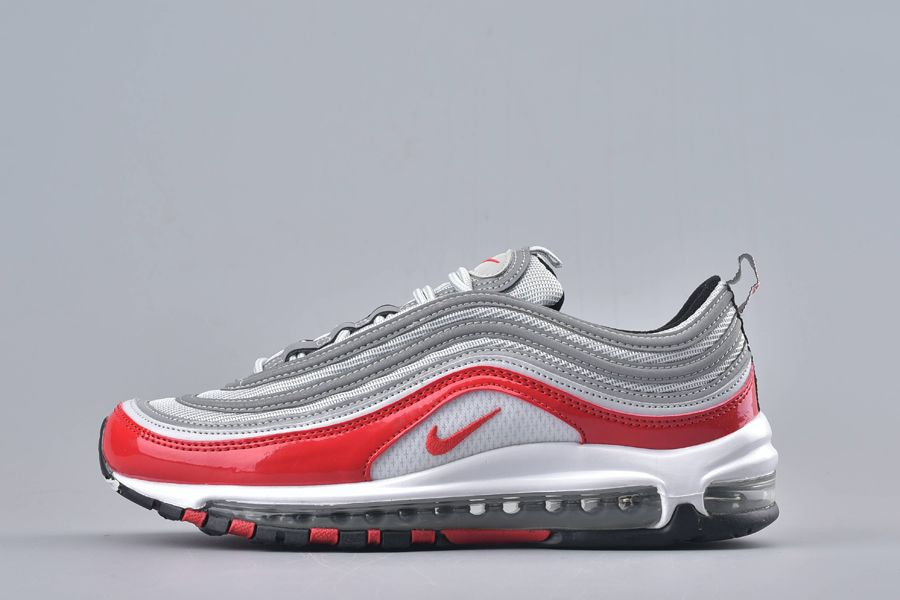 Nike Air Max 97 Pure Platinum University Red-Black-White For Sale