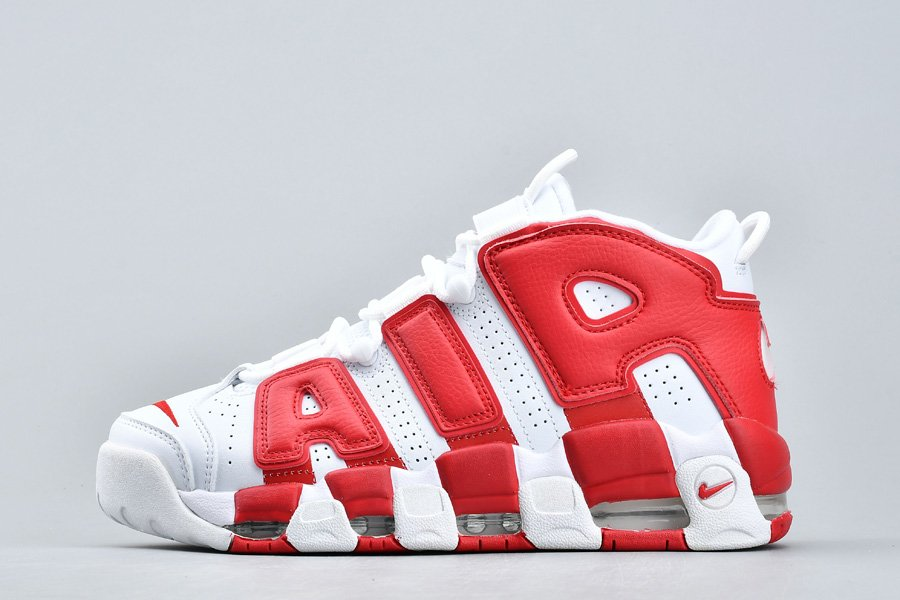 Nike Air More Uptempo White Gym Red 414962-100 For Sale