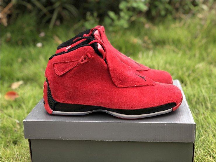 New Air Jordan 18 Red Suede