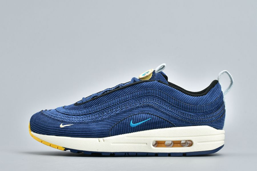 2018 Sean Wotherspoon x Nike Air Max 1 97 VF SW Royal Blue White-Yellow