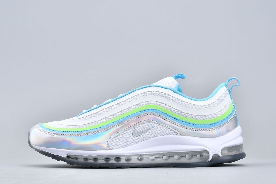 Nike Wmns Air Max 97 UL 17 SE Iridescent White Hologram Blue For Sale