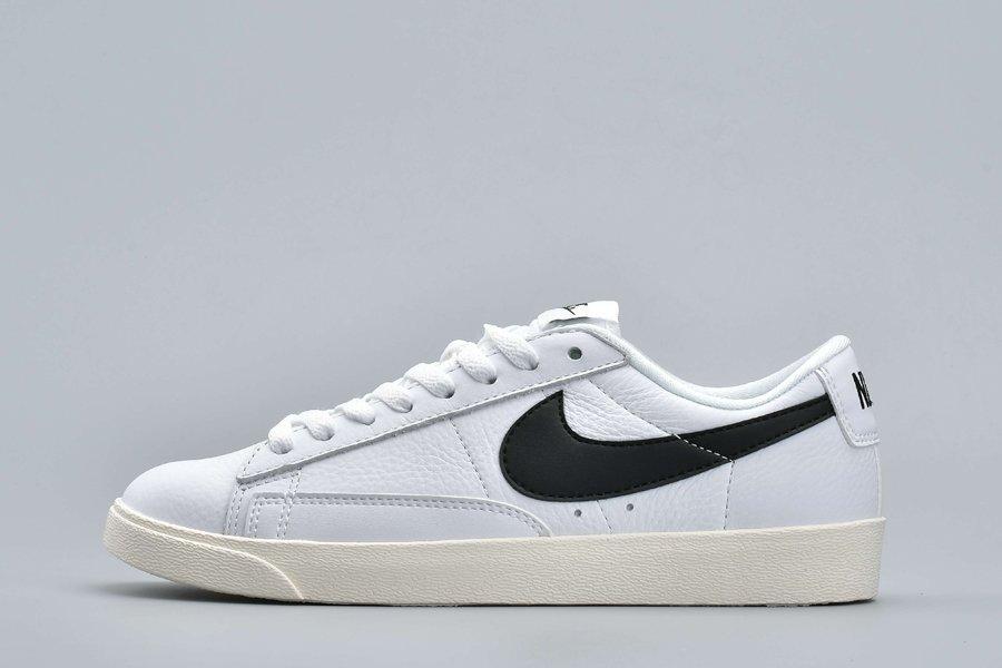 Nike Blazer Low PRM White Black-Sail 454471-104 On Sale