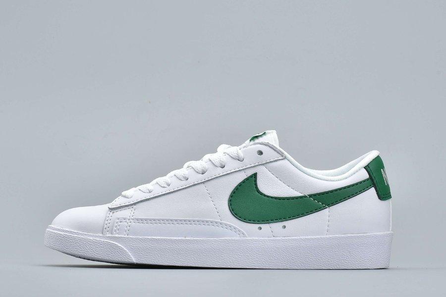 Nike Blazer Low PRM White Green Cheap Sale
