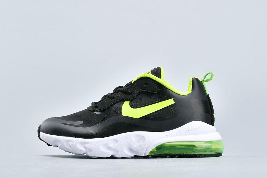 Buy New Nike Youth Air Max 270 React Grade School Black Green