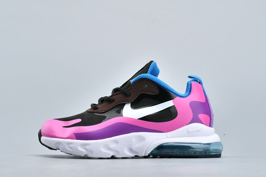 Kids Nike Air Max 270 React Hyper Pink-Vivid Purple For Sale