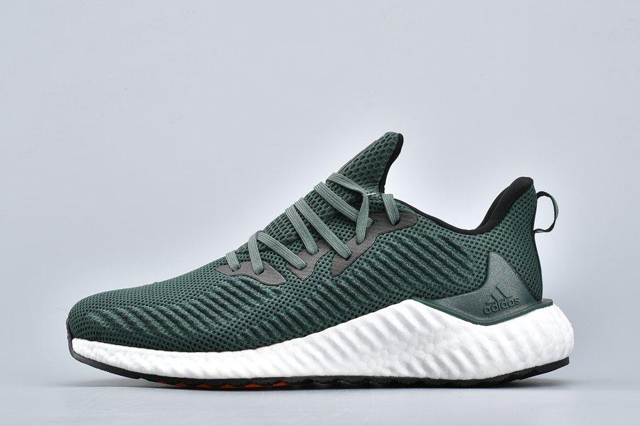Mens adidas Alphaboost Dark Green For Sale