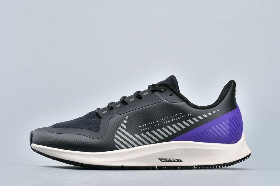 Nike Air Zoom Pegasus 36 Shield Black Silver-Purple New Sale