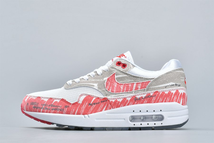 Schematic Nike Air Max 1 Tinker Sketch To Shelf Red CJ4286-101 To Buy