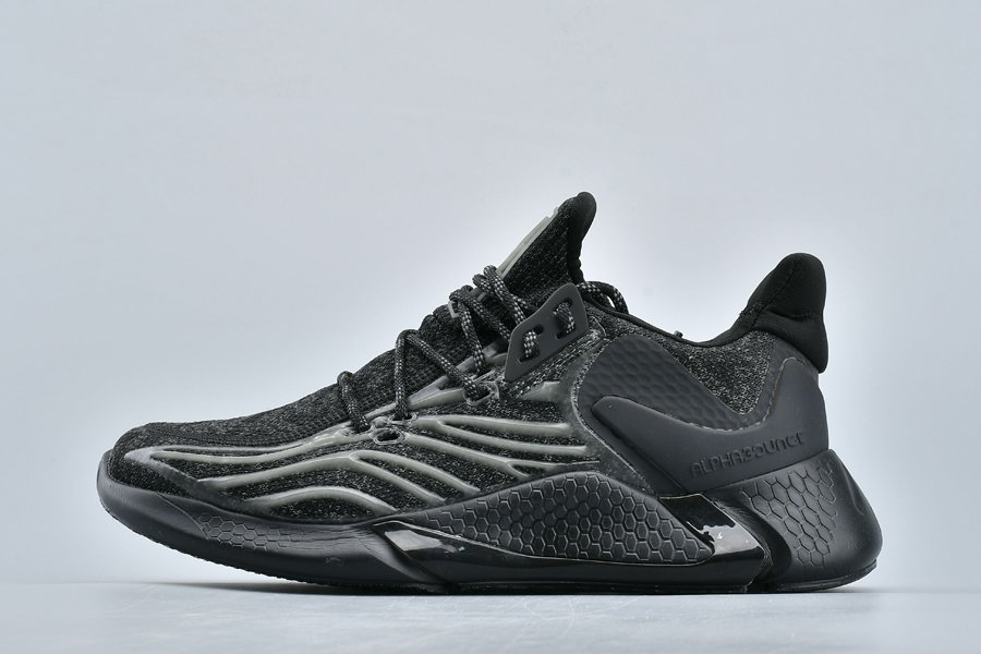 adidas Alphabounce Yeezy Boost Reflective Triple Black For Sale