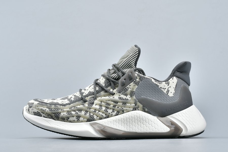 adidas Alphabounce Yeezy Boost Sail White Grey New Sale