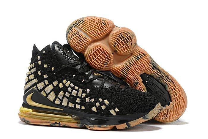 Buy Nike Lebron 17 Black Gold Gum In Mens Size