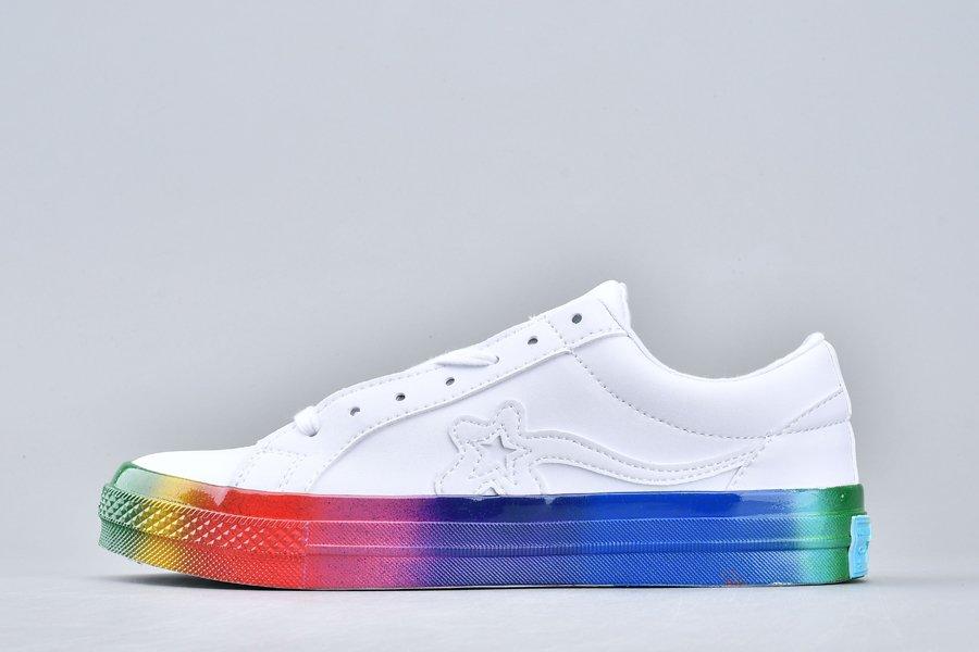 Golf Le Fleur x Converse OX Rainbow White Multi For Sale