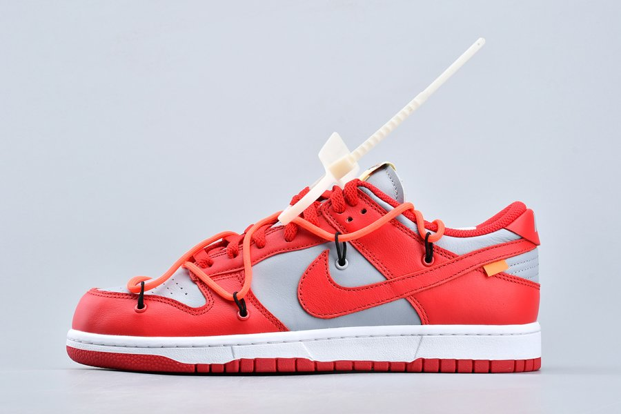 Off-White x Nike Dunk Low University Red CT0856-600 For Sale
