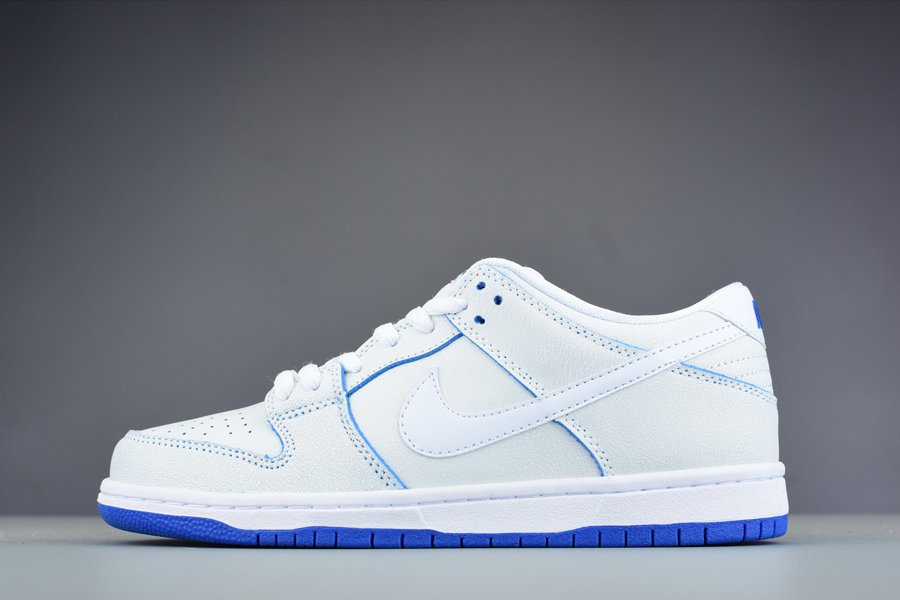 Nike Dunk Low Premium SB Cracked Leather White-Game Royal Outlet