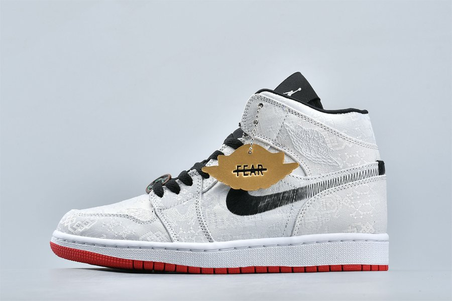 CLOT x Air Jordan 1 Mid Fearless Faded Swooshes For Sale