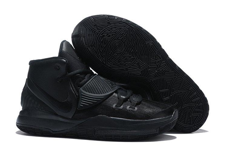 New Nike Kyrie 6 Triple Black Basketball Shoes Sale