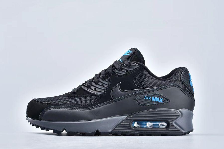Nike Air Max 90 Essential Black Imperial Blue-Dark Grey Outlet