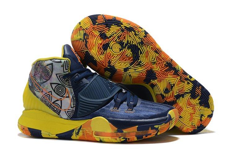 Nike Kyrie 6 Pre-Heat Taipei Navy Blue Vibrant Yellow CQ7634-401 Sale
