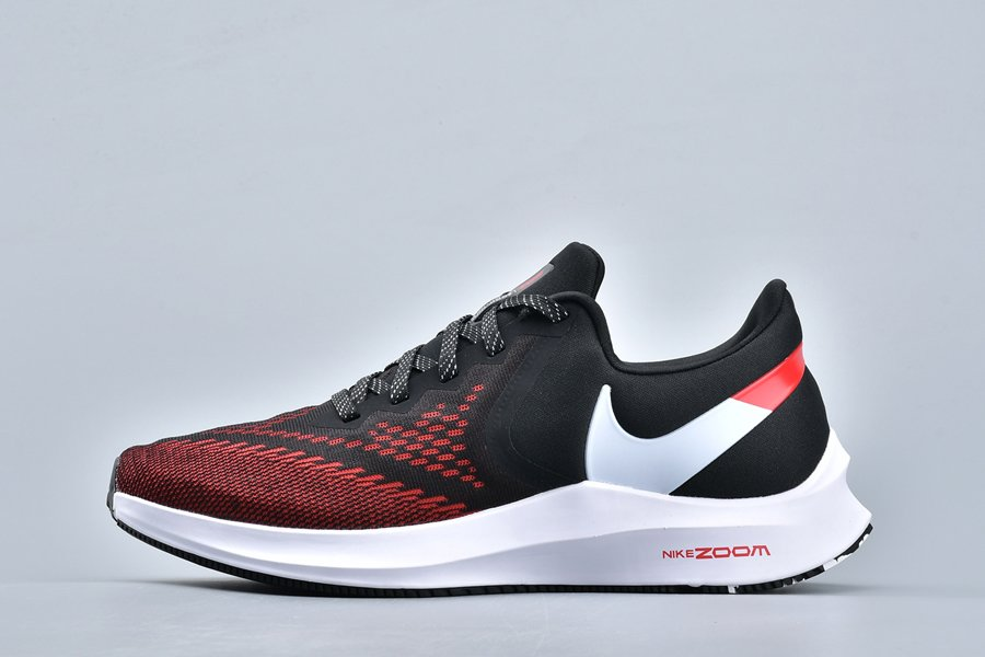 Nike Zoom Winflo 6 Black White Red Mens Running Shoes For Sale