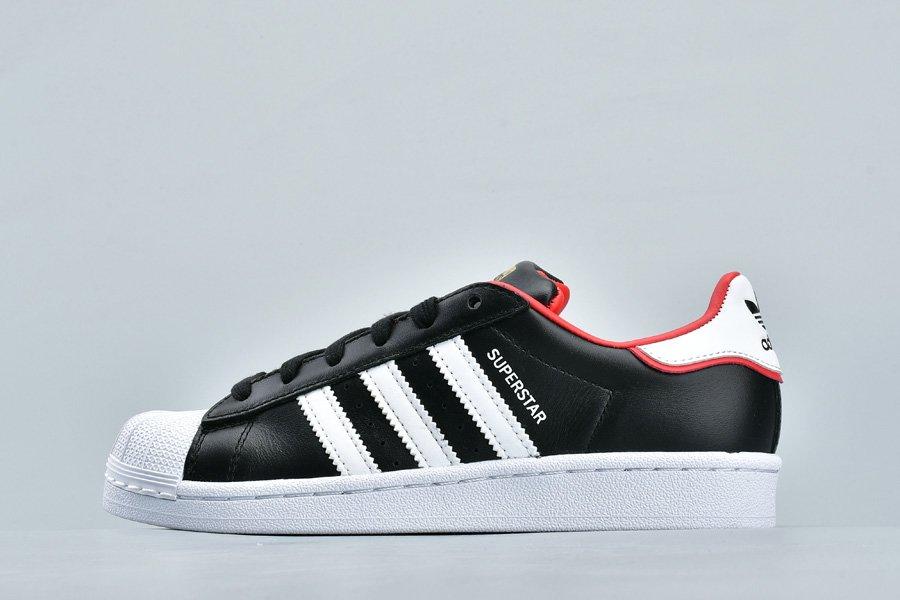 adidas Originals Superstar Black Red White FW6385 Pas Cher