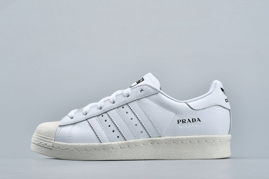 adidas Originals Superstar Prada Limited Edition In White For Sale