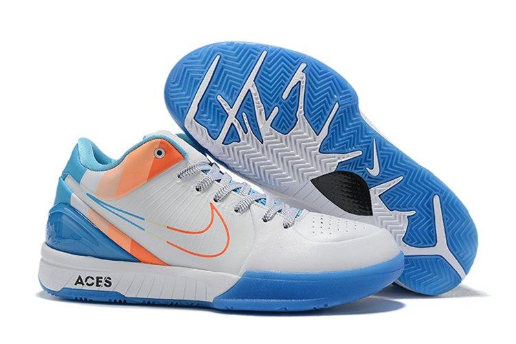 Nike Kobe 4 Protro ACES Custom White Blue Orange To Buy