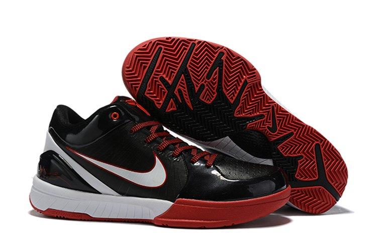 Nike Zoom Kobe 4 Protro Black Red White Basketball Shoes On Sale