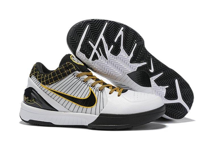 Nike Zoom Kobe 4 Protro Del Sol White Black Yellow For Sale