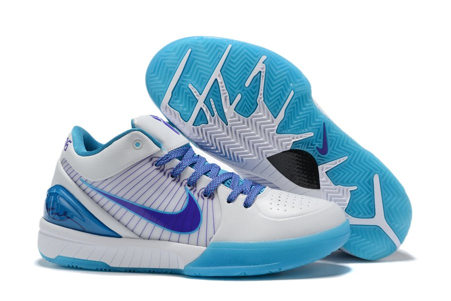 Nike Zoom Kobe 4 Protro Draft Day White Blue On Sale