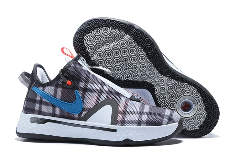 Nike PG 4 Plaid Football Grey Laser Blue-Lt Smoke Grey To Buy