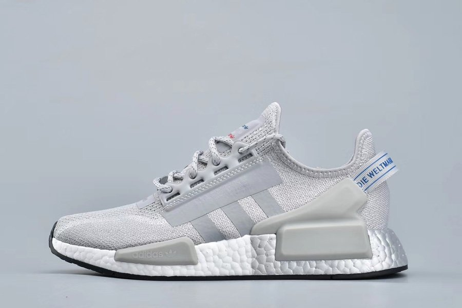 adidas NMD_R1.V2 BOOST Grey Two Silver Metallic FW5328 For Sale