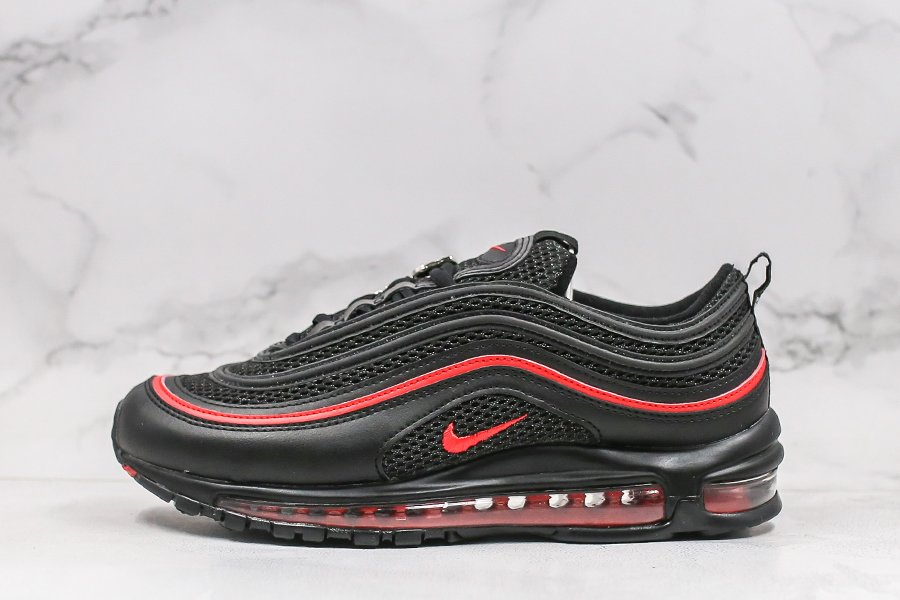 2020 Nike Air Max 97 Valentines Day Black Red CU9990-001 Sale