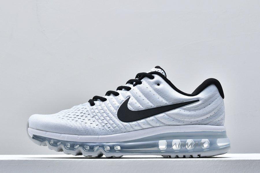 Buy Nike Air Max 2017 White Black Running Trainers 849560-100 Online