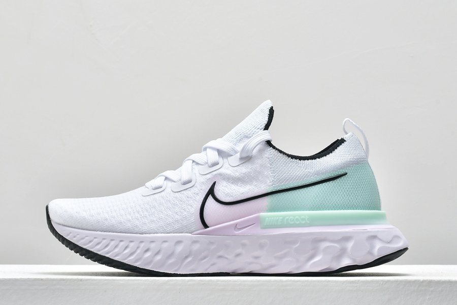 Ladies Nike React Infinity Run Flyknit White Iced Lilac Pistachi For Sale