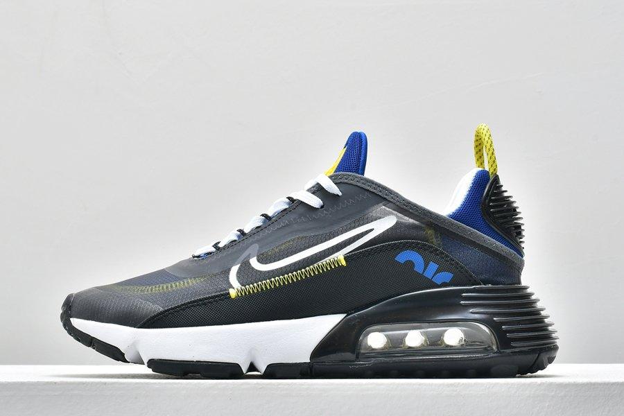 Mens Nike Air Max 2090 Black Dark Grey-Royal Blue-White To Buy