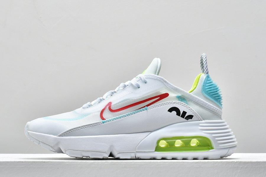 Nike Air Max 2090 White-Volt Aqua Blue Shoes For Sale