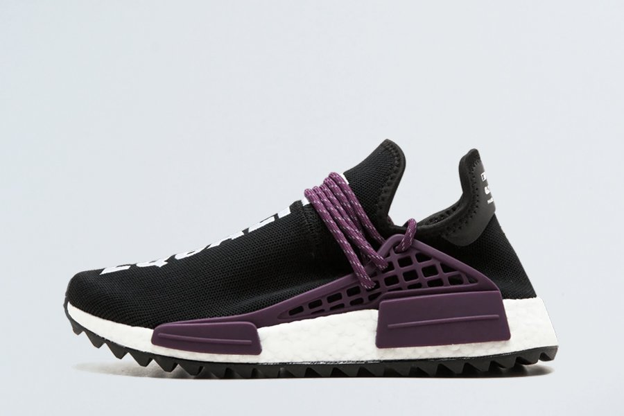 Pharrell x adidas NMD Hu Trail Equality Black Purple For Sale