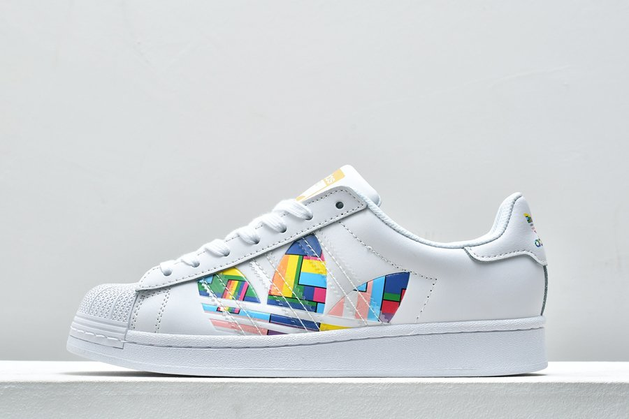 2020 adidas Superstar Pride White Multi FY9022 For Sale
