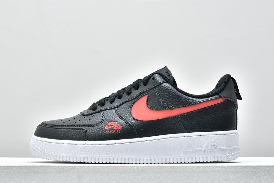 Black Red Nike Air Force 1 Low Utility Bred CW7579-001 For Sale