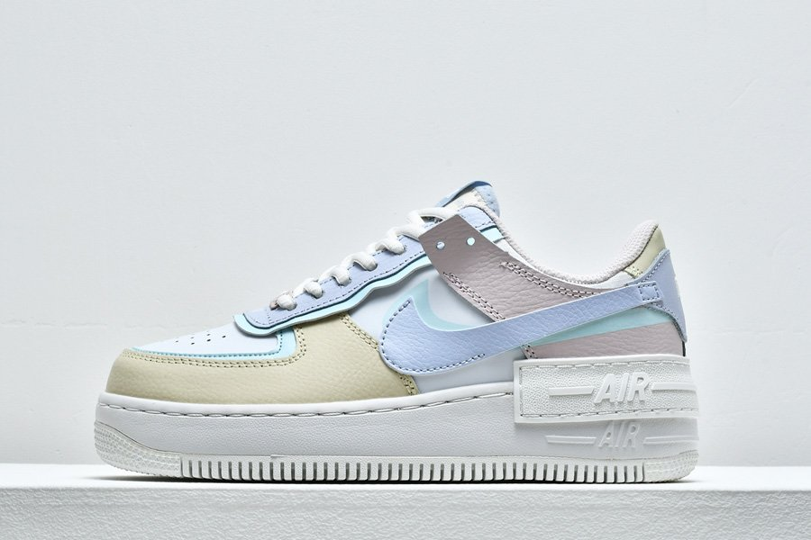 Ladies Nike Air Force 1 Shadow White Light Blue To Buy