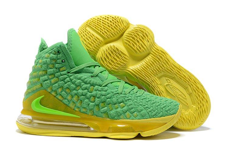 Nike LeBron 17 Oregon Ducks Green Yellow For Sale