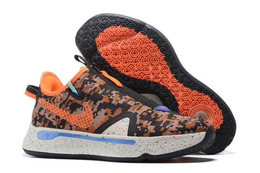 Nike PG 4 Digi-Camo Black Orange On Sale