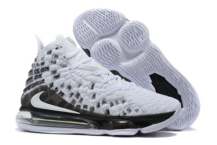 Buy New Nike LeBron 17 White Black Basketball Sneakers