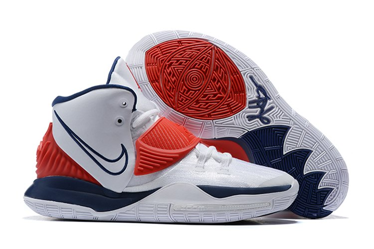 Nike Kyrie 6 USA White Navy Red Basketball Shoes For Sale