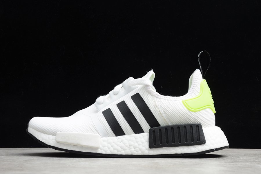 adidas NMD R1 White Black Volt Running Shoe For Sale
