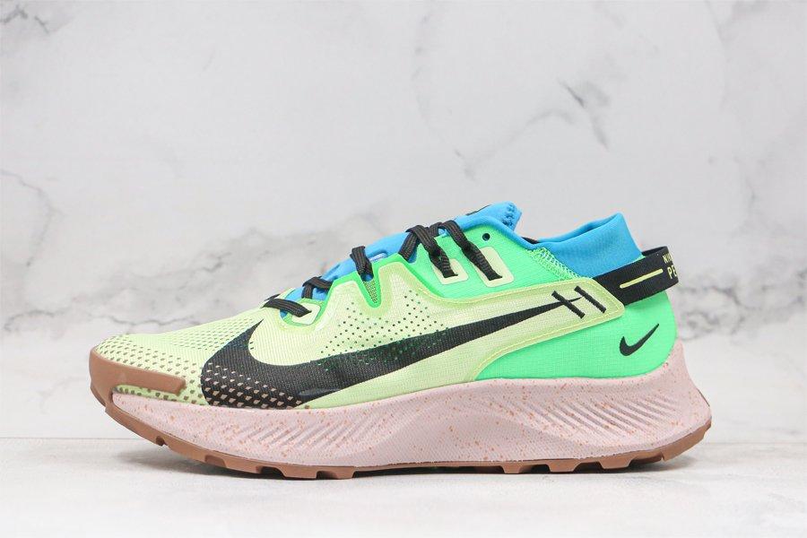 Buy Nike Pegasus Trail 2 Barely Volt Laser Blue Poison Green Black