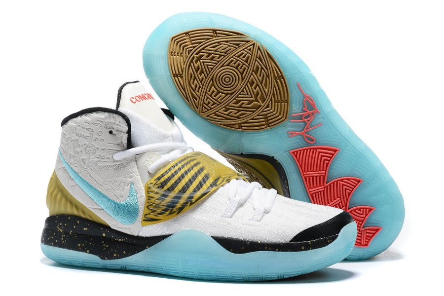 Concepts x Nike Kyrie 6 Golden Mummy White Teal-Metalic Gold