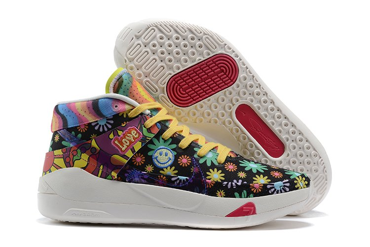 Nike KD 13 Peace Day with multicolored groovy flowers