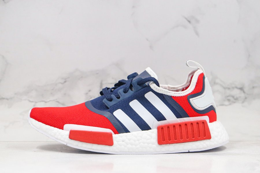 adidas NMD R1 USA Navy Red White FV1734 For Sale